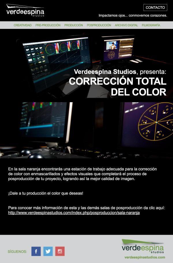 Conoce nuestra Sala Naranja y dale a tu producción ¡el color que deseas! #posproducción #correccióndecolor