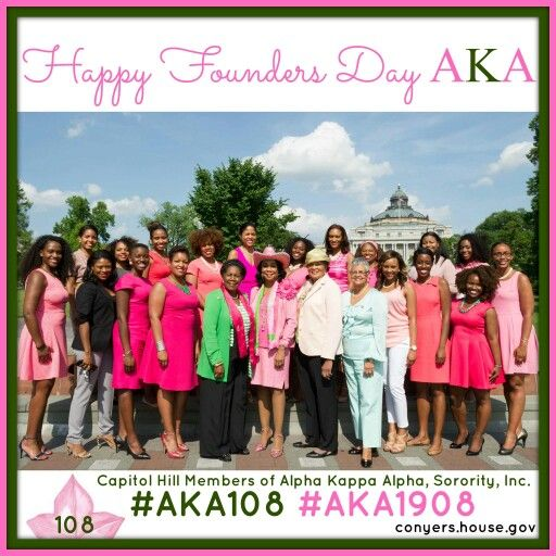 Alpha Kappa Alpha Sorority, Incorporated members on Capitol Hill. Founders' Day 2016. #AKA108 #AKA1908