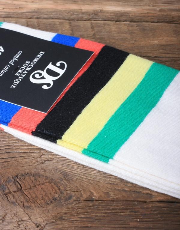 Democratique Socks Striped Sock - Bike Jersey
