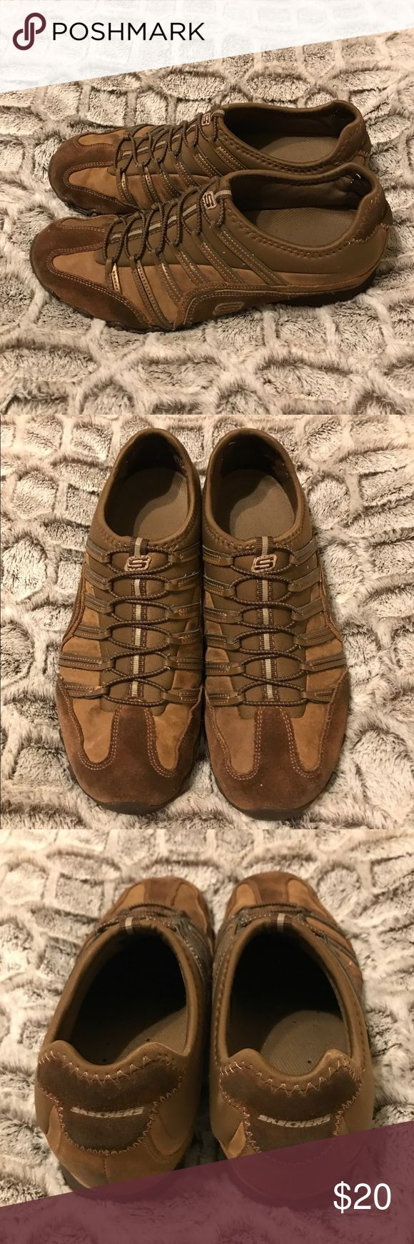 Skechers Sneakers Women's Skechers Sneakers in Shades of Brown with Faux laces. GUC with minimal wear. Skechers Shoes Sneakers