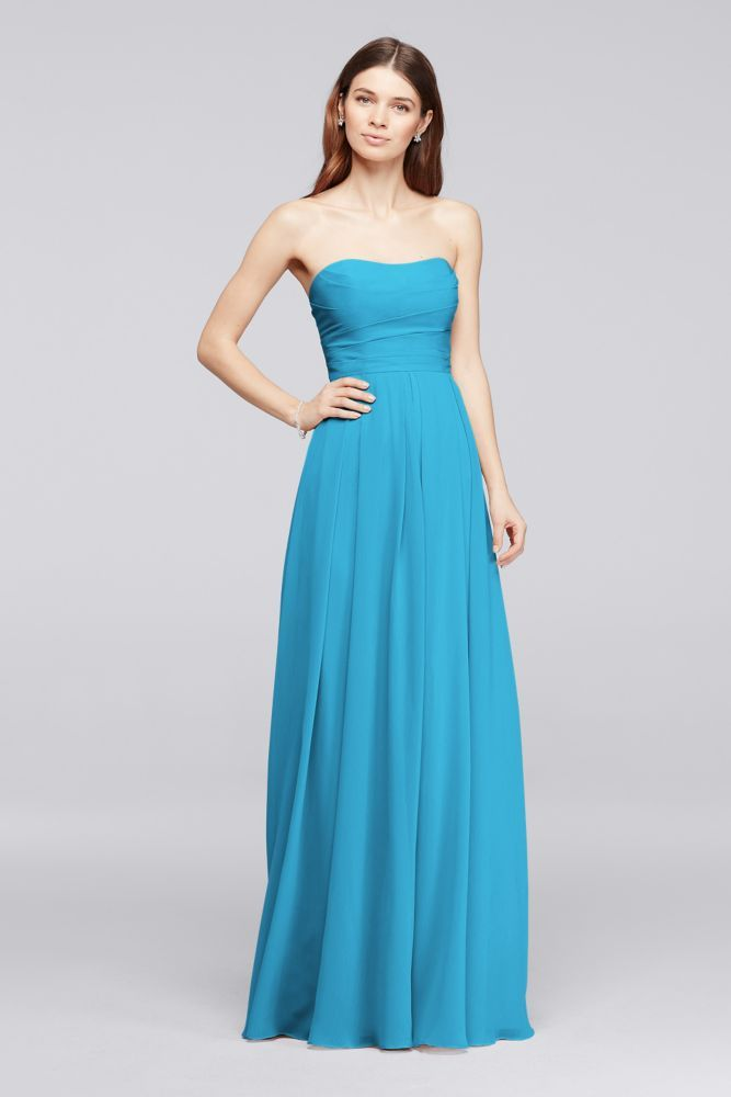 Perfect  crinkle chiffon bridesmaid dress supremely flattering Polyester Back zipper fully lined Dry clean Also available in Extra Length sizes Short Version