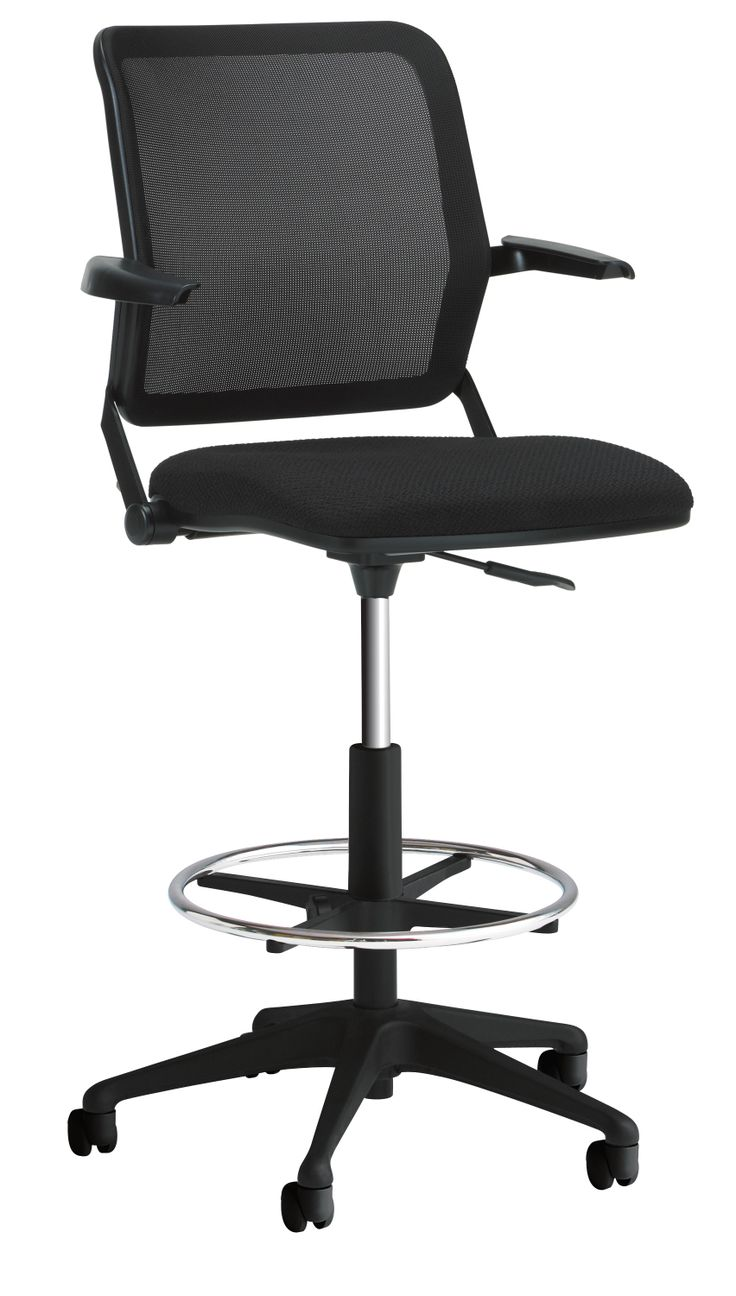 Torsion Air Task Stool With Cantilever Arms