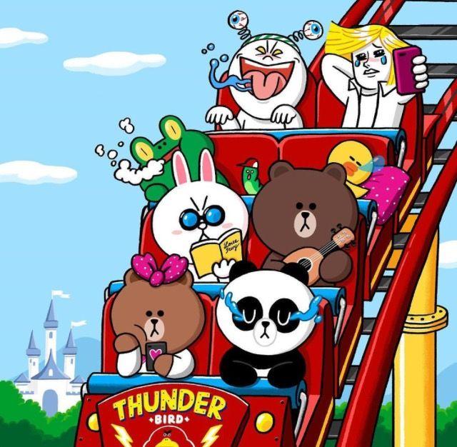 Line friends in amusement park