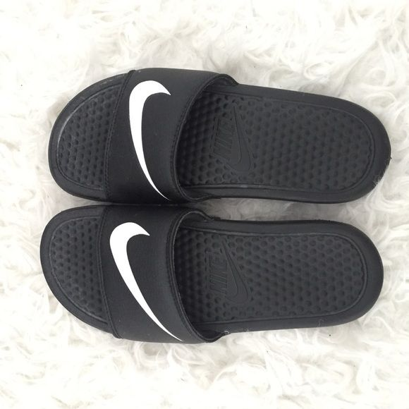 No trades Nike sandals womens size 4 fit like 5 Like new i wear a size 5 and these fit me Nike Shoes Sandals