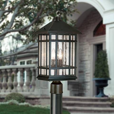 "J du J Sierra Craftsman 100"" High Direct Burial Post Light"