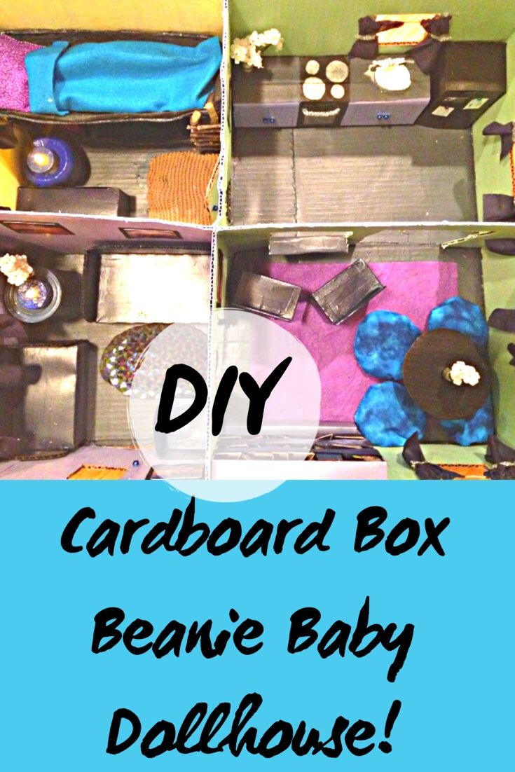 a68feb6f2cc Cardboard Box Beanie Baby House