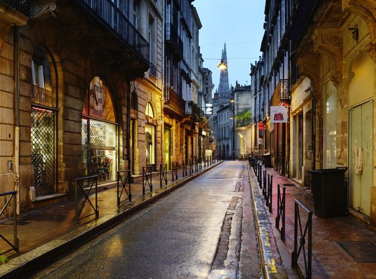 Historic streets of Bordeaux, France