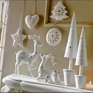 Decoración de Navidad blanca como la nieve. | Homekids