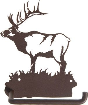 Elk Toilet Paper Holder Www.rusticeditions.com