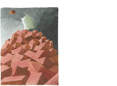 'Broken bricks' signed limited edition print by Neil Curtis, from his picture book 'The Memory Book'. Available from Books Illustrated. http://www.booksillustrated.com.au/bi_prints_indiv.php?id=9&image_id=30