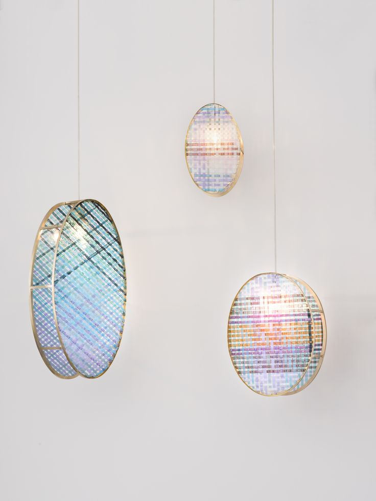 Edition van Treeck / Woven Glass pendant lamp by Elisa Strozyk