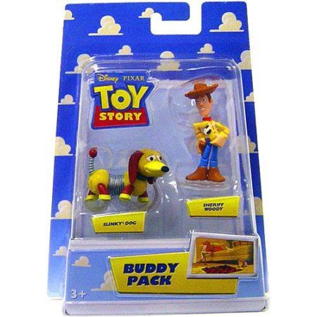 Toy Story Buddy Pack Sheriff Woody & Slinky Dog Mini Figure 2-Pack, Multicolor