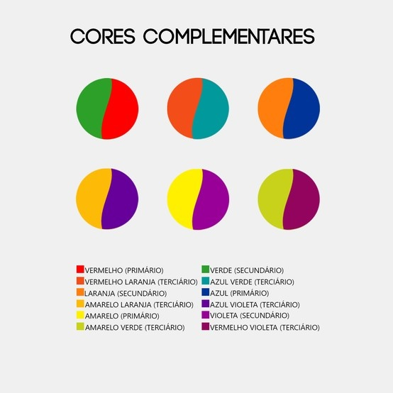 Top // Cores complementares.