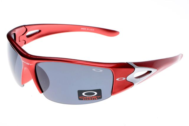 Biggest sale of the season.Oakley Fast Jacket Semi-Rimless Red Sunglasses $13.99  - Don't miss out.