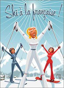 CHAMROUSSE - Sports de neige : ski à la française