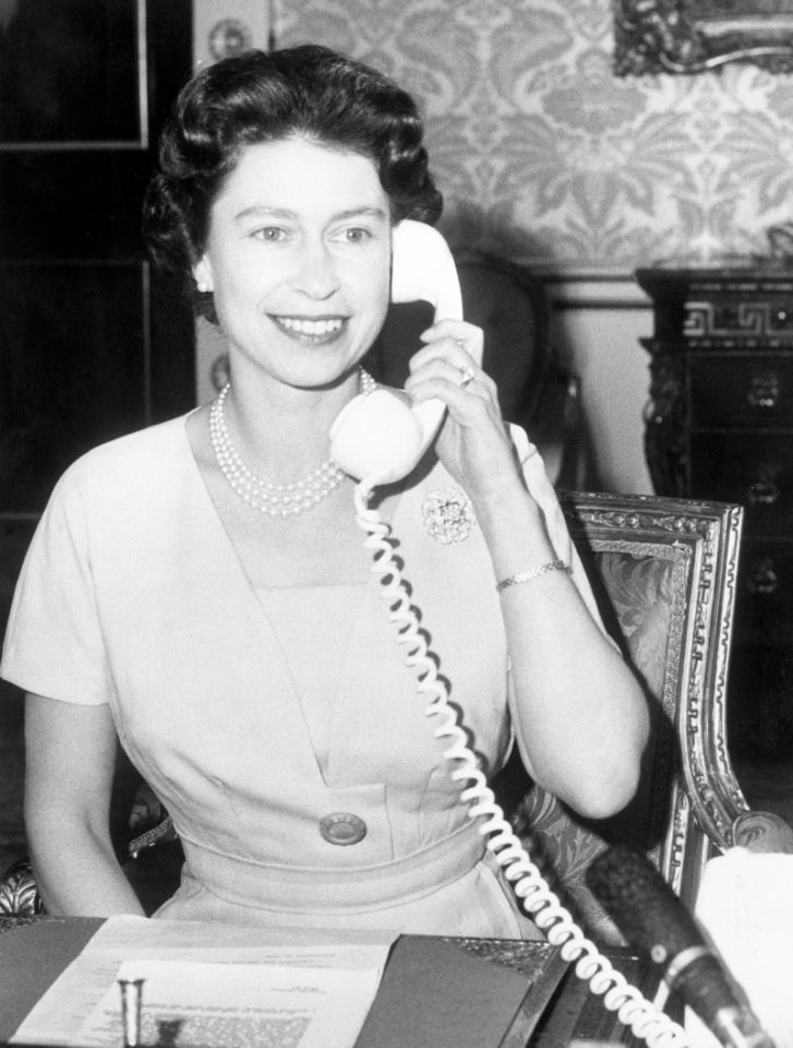 <p>John Diefenbaker, Prime Minister of Canada, receives the first ever phone call to Ottawa from the Queen.She was inaugurating CANTAT (Canadian Trans-Atlantic Telephone). (PA Archive)</p>