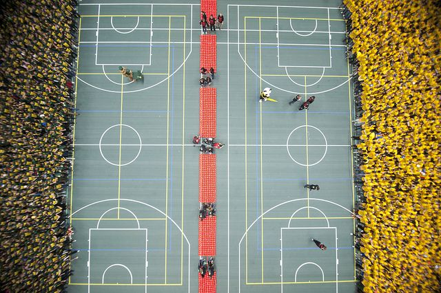 be a part of the world's largest dodgeball game