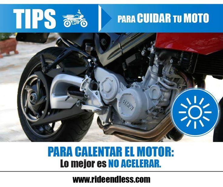 Para calentar el motor: lo mejor es no acelerar, es decir dejar el motor en mínimo. Esto produce menos revoluciones, menos movimiento y como resultado menos fricción y menos desgaste.  #RideEndless #BMW #Motorrad #Tips #TipRideEndless