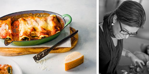 Italiaanse gerechten zijn gerechten voor de hele familie. Ideaal dus om met de kids te koken.Zelf cannelloni rollen vinden ze vaak erg spannend. Het mag ook lekker slordig! Dagje geen vlees? Zonder ham bevat de cannelloni nog voldoende eiwitten uit de kaas en crème fraîche. Trek in meer Italiaanse familiegerechten? Bestel dan nú het delicious.juninummer! … (Lees verder…)