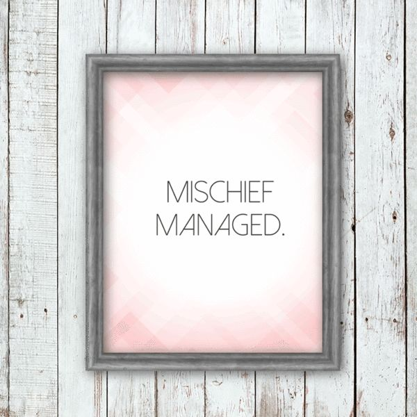 """""""Mischief Managed"""" Harry Potter Quote Printable 8x10"""