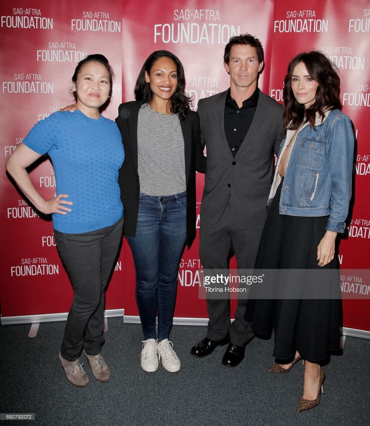 Suzy Nakamura, Cynthia Addai-Robinson, Shawn Hatosy and Abigail Spencer attend SAG-AFTRA Foundation's Conversations with working actors at SAG-AFTRA Foundation Screening Room on May 8, 2017 in Los Angeles, California.