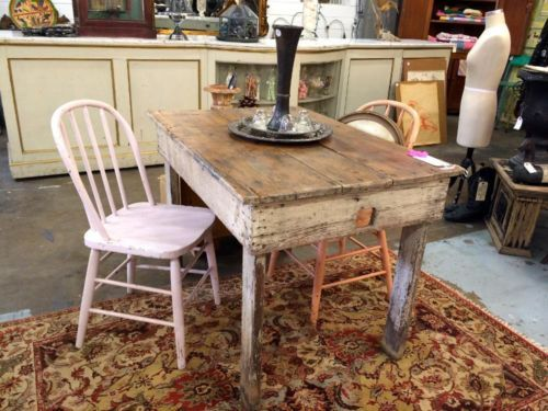 Primitive Pine Table On Sale Shabby Chic Was 300 Price 240 Country Garden Antiques 147