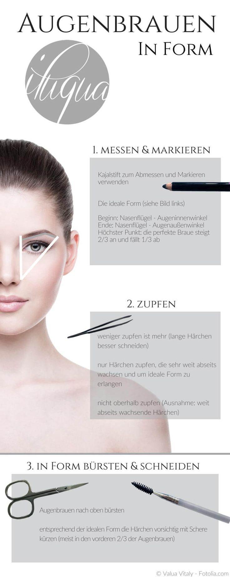 Augenbrauen rahmen dein Gesicht. Damit du deine Augenbrauen richtig zupfst und in ideale Form bringst, haben wir eine Schritt-für-Schritt Anleitung erstellt.