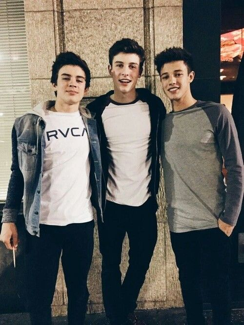 Hayes Grier, Shawn Mendes and Cameron Dallas