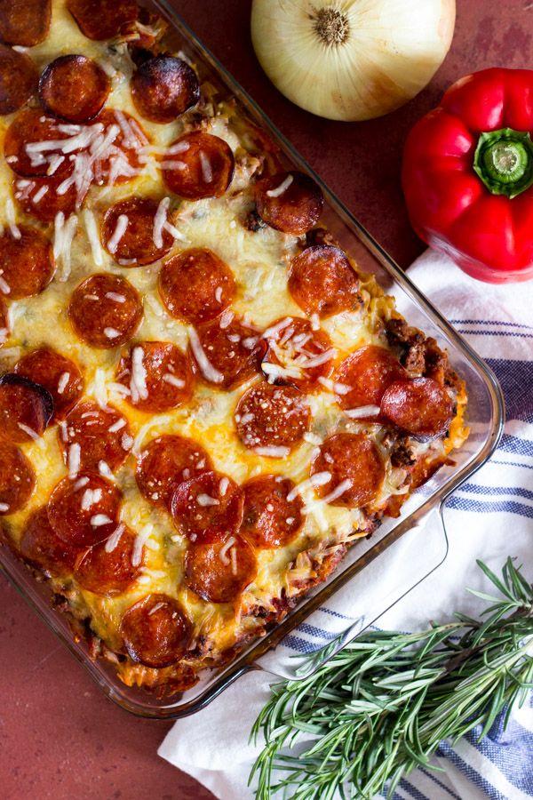Pepperoni Pizza Pasta Casserole – Dan330