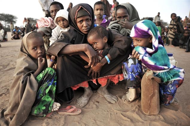 Newly arrived #refugees at #Dadaab refugee camp, eastern #Kenya. © UNICEF/Riccardo Gangale