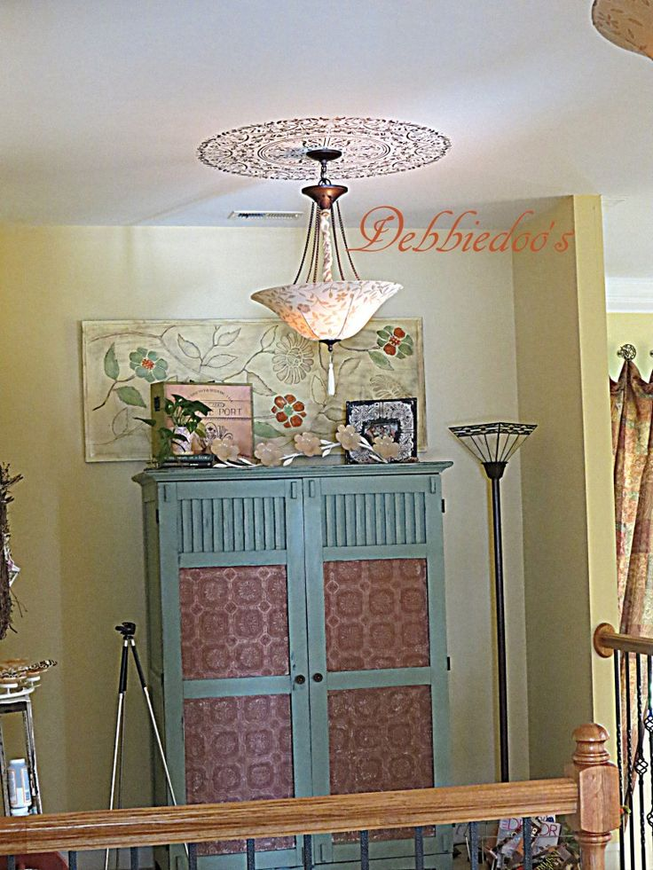 Maison Blanche Vintage Furniture Paint Makeover With Mardi Gras Green   Computer  Armoire By @deb