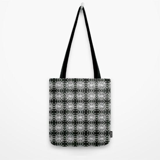 Abstract Silver, Spinning Stars Pattern - regular Tote Bag