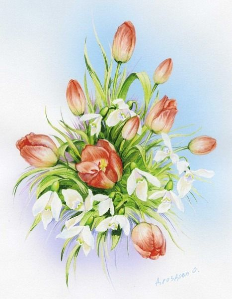Gallery.ru / Фото #8 - Акварельные цветы Ольги Дроздовой - Mislana