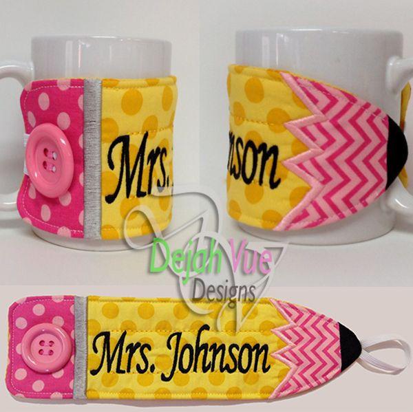 Pencil Mug Wrap ITH