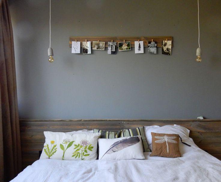 diy, wood. Hoofdeinde en fotoplankje van oude schutting.