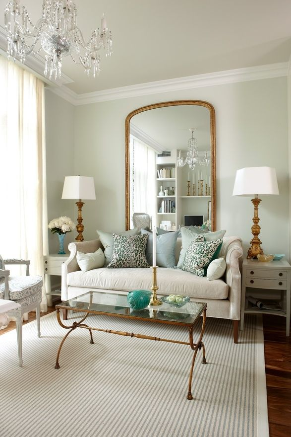 trend to try: oversized gilded mirrors | refresheddesigns.sustainable design
