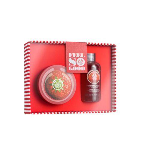 Mansikka kylpy- ja vartalolahjapakkaus #lahjaopas #lahjavinkit #lahjaideat #syntymäpäivä #äitienpäivä http://lahjaopas.info/lahja-ideat/naiselle/