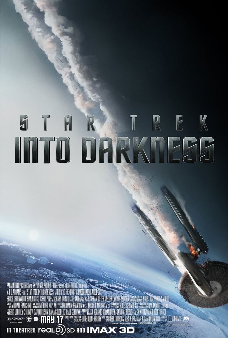Star Trek Into Darkness (2013) Poster- Maybe the movie I'm most excited for this summer!