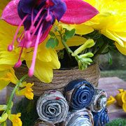 Handmade Decorations and Flower Arrangements by thehappylittlejar