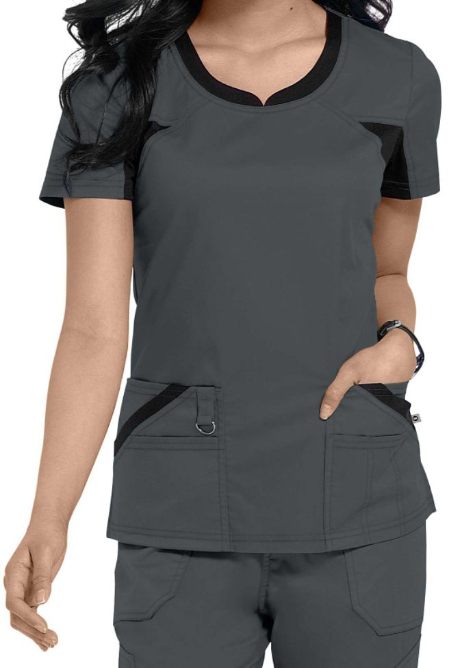 Dickies Performance System v-neck scrub top. Main Image