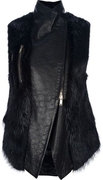 Givenchy Black Fur Gilet