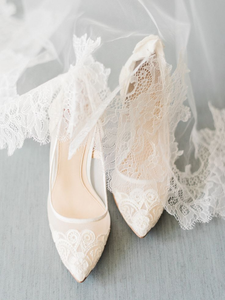 Lace pointed toe pumps: Photography: Ether & Smith