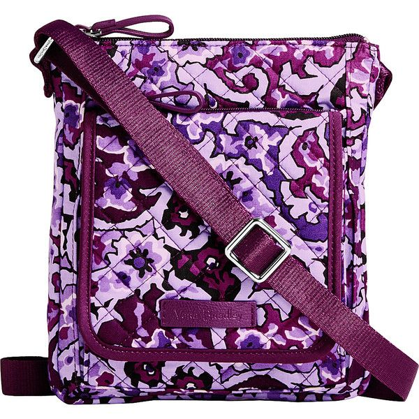 Vera Bradley Iconic RFID Mini Hipster - Lilac Paisley - Crossbody Bags ($38) ❤ liked on Polyvore featuring bags, handbags, shoulder bags, purple, lightweight shoulder bag, purple shoulder bag, mini crossbody handbags, crossbody purse and crossbody handbags