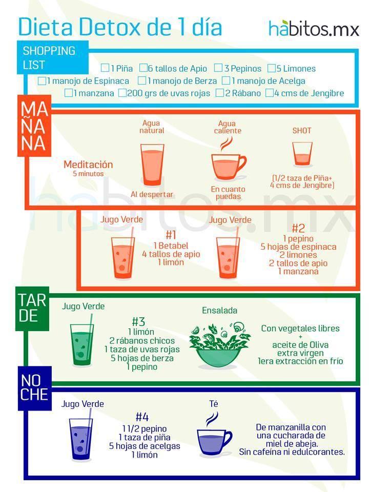 Dieta detox de un día