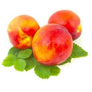 Ripe juicy flavour,  like a succulent bite from a real peach ...minus the fuzz!