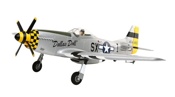 E-flite P-51D Mustang BNF Basic with AS3X Technology