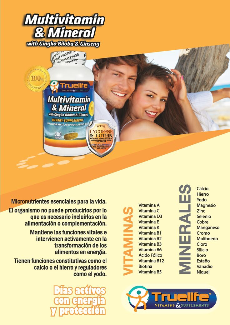 Multivitaminas y Minerales, micronutrientes esenciales para la vida.