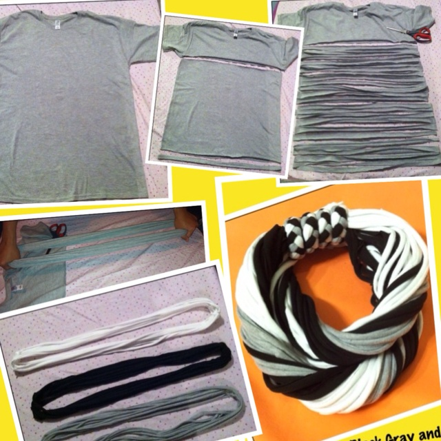 How to make t-shirt to scarves