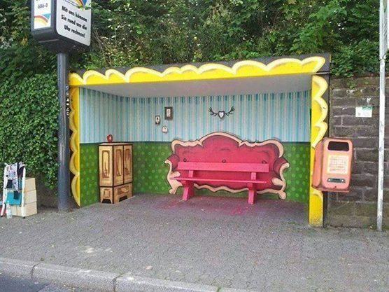 Busstop in Germany