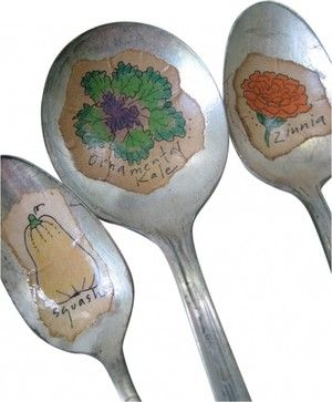 Fall harvest spoon marker - eclectic - Gardening Tools - New York - Second Shout Out
